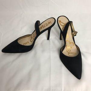 Sam Edelman Dora black pointy toe slingback heels